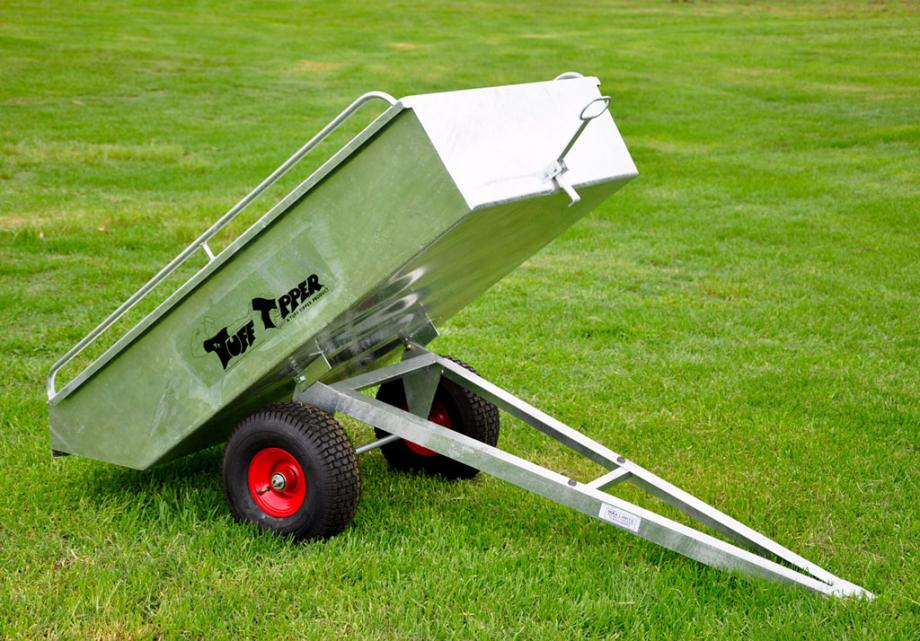 Ride on mower and atv tipping trailers for Garden design trailer